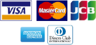 VISA/MasterCard/JCB/American Express/Diners Club International